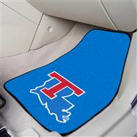"Louisiana Tech Bulldogs 2-piece Carpeted Car Mats 18""x27"""