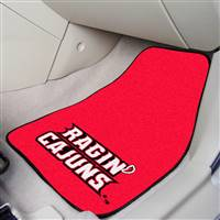 "Louisiana-Lafayette Ragin' Cajuns 2-piece Carpeted Car Mats 18""x27"""