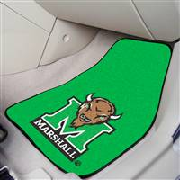 "Marshall Thundering Herd 2-piece Carpeted Car Mats 18""x27"""