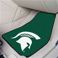 "Michigan State Spartans 2-piece Carpeted Car Mats 18""x27"""