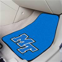 "Middle Tennessee State (MTSU) Blue Raiders 2-piece Carpeted Car Mats 18""x27"""