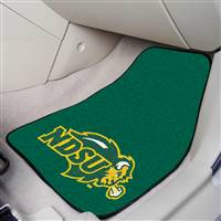 "North Dakota State University 2-pc Carpet Car Mat Set 17""x27"""