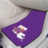 "Northwestern 2-pc Carpet Car Mat Set 17""x27"""