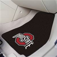 "Ohio State Buckeyes 2-piece Carpeted Car Mats 18""x27"""