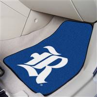 "Rice Owls 2-piece Carpeted Car Mats 18""x27"""