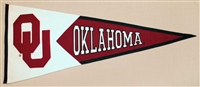 Oklahoma Sooners (Interlock) Large Classic Wool Pennant
