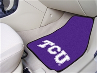 "Texas Christian (TCU) Horned Frogs 2-piece Carpeted Car Mats 18""x27"""