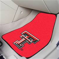 "Texas Tech Red Raiders 2-piece Carpeted Car Mats 18""x27"""