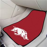 "Arkansas Razorbacks 2-piece Carpeted Car Mats 18""x27"""