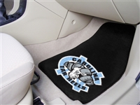 "North Carolina Tar Heelsl 2-piece Carpeted Car Mats 18""x27"""