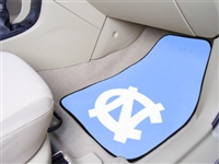 "North Carolina Tar Heels 2-piece Carpeted Car Mats 18""x27"""