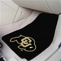 "Colorado Buffaloes 2-piece Carpeted Car Mats 18""x27"""
