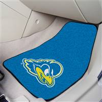 "Delaware Blue Hens 2-piece Carpeted Car Mats 18""x27"""