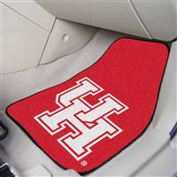 "Houston Cougars 2-piece Carpeted Car Mats 18""x27"""