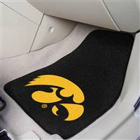 "Iowa Hawkeyes 2-piece Carpeted Car Mats 18""x27"""