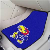 "Kansas Jayhawks 2-piece Carpeted Car Mats 18""x27"""