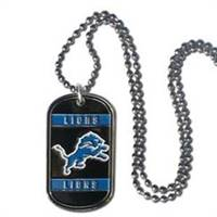 Detroit Lions Necklace Tag Style