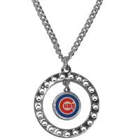 Chicago Cubs Necklace Chain Rhinestone Hoop