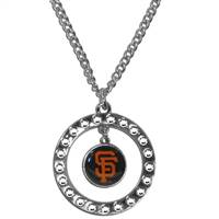 San Francisco Giants Necklace Chain Rhinestone Hoop