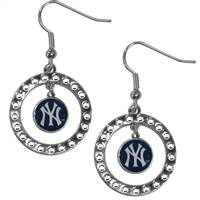 New York Yankees Earrings Hoop Rhinestone