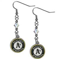 Oakland Athletics Earrings Fish Hook Post Style