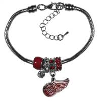 Detroit Red Wings Bracelet - Euro Bead
