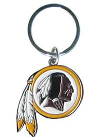 Washington Redskins Chrome Logo Cut Keychain