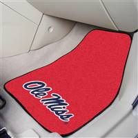 "University of Mississippi (Ole Miss) 2-pc Carpet Car Mat Set 17""x27"""