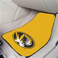 "Missouri Tigers 2-piece Carpeted Car Mats 18""x27"""