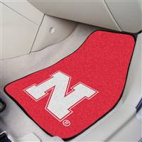 "Nebraska Cornhuskers 2-piece Carpeted Car Mats 18""x27"""