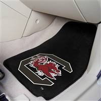 "South Carolina Gamecocks 2-piece Carpeted Car Mats 18""x27"""