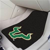"South Florida Bulls 2-piece Carpeted Car Mats 18""x27"""