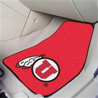 "Utah Utes 2-piece Carpeted Car Mats 18""x27"""