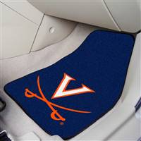"Virginia Cavaliers 2-piece Carpeted Car Mats 18""x27"""