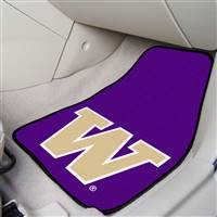 "Washington Huskies 2-piece Carpeted Car Mats 18""x27"""