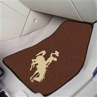 "Wyoming Cowboys 2-piece Carpeted Car Mats 18""x27"""
