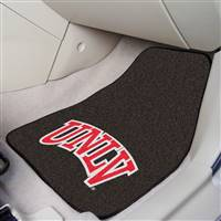 "UNLV Nevada Las Vegas 2-piece Carpeted Car Mats 18""x27"""