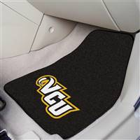 "Virginia Commonwealth University 2-pc Carpet Car Mat Set 17""x27"""