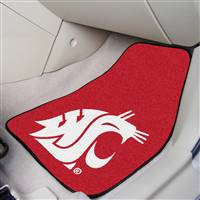 "Washington State Cougars 2-piece Carpeted Car Mats 18""x27"""