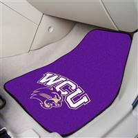 "Western Carolina (WCU) Catamounts 2-piece Carpeted Car Mats 18""x27"""