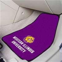 "Western Illinois Leathernecks 2-piece Carpeted Car Mats, 18"" x 27"""
