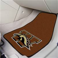 "Western Michigan University 2-pc Carpet Car Mat Set 17""x27"""