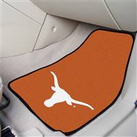 "Texas Longhorns 2-piece Carpeted Car Mats 18""x27"""