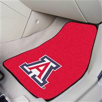 "Arizona Wildcats 2-piece Carpeted Car Mats 18""x27"""