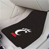 "Cincinnati Bearcats 2-piece Carpeted Car Mats 18""x27"""