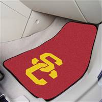 "Southern California (USC) Trojans 2-piece Carpeted Car Mats 18""x27"""
