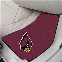 "Arizona Cardinals 2-Piece Carpeted Car Mats 18""x27"""