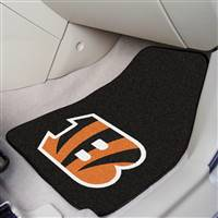 "Cincinnati Bengals 2-Piece Carpeted Car Mats 18""x27"""