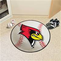 "Illinois State Redbirds Baseball Rug 29"" diameter"