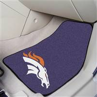 "Denver Broncos 2-piece Carpeted Car Mats 18""x27"""
